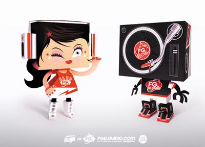 tougui_papertoy_radioFGdownload Paercraft Design jouet en papier