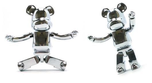 Be@rbrick Chrome Die-Cast 200%