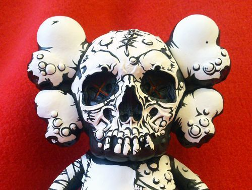 Custom toys Kaws x Pushead by JPK