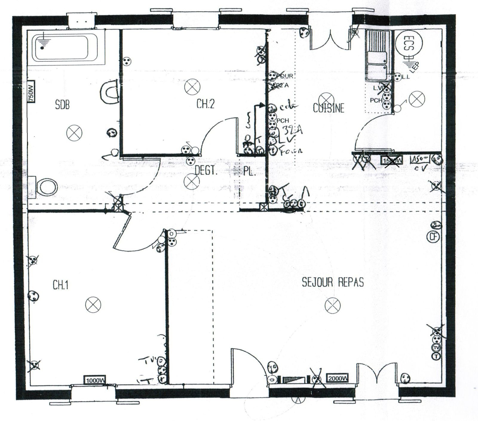 Plan type maison maison mimosa plan tage oma office of for Plan maison type