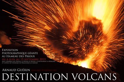 Affiche expo Volcans pralo copyright A.Guerin-Lithosphere (