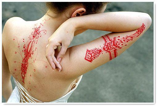 couleurs des tatouages