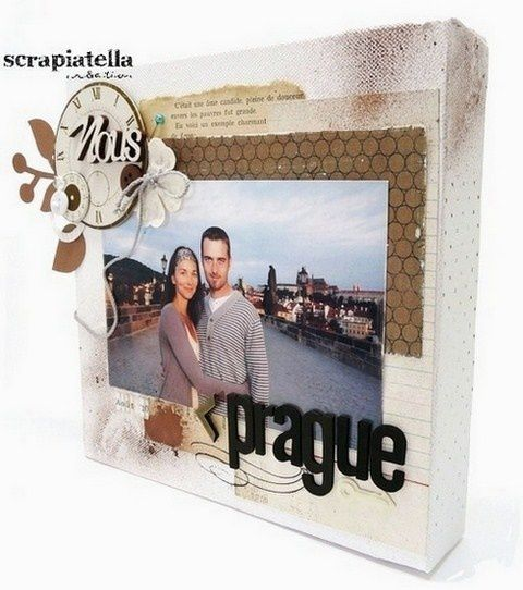 Canvas scrapbooking Voyage- Prague