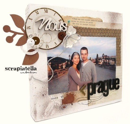 Canvas scrapbooking home déco
