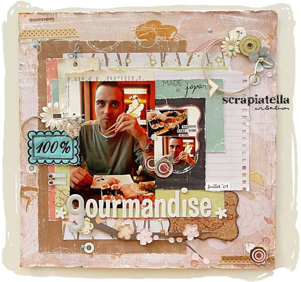 Page scrapbooking - Gourmandise -