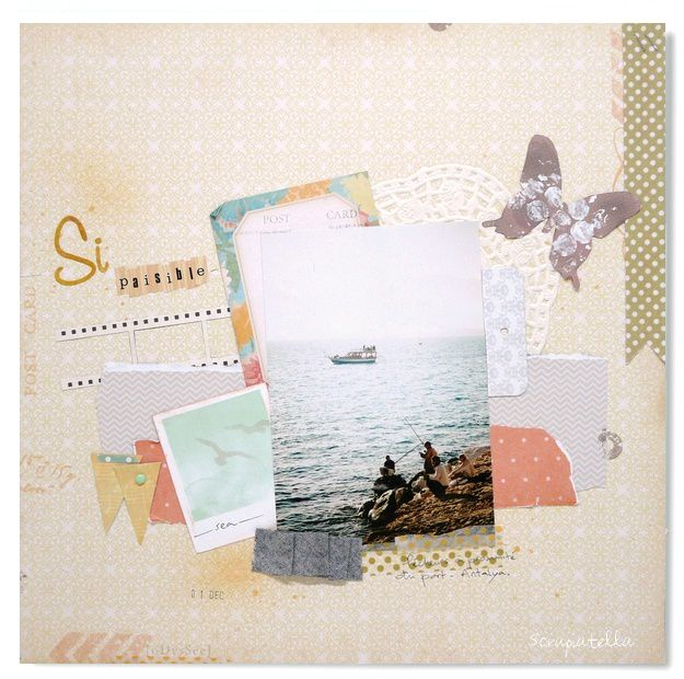 page scrap photo voyage