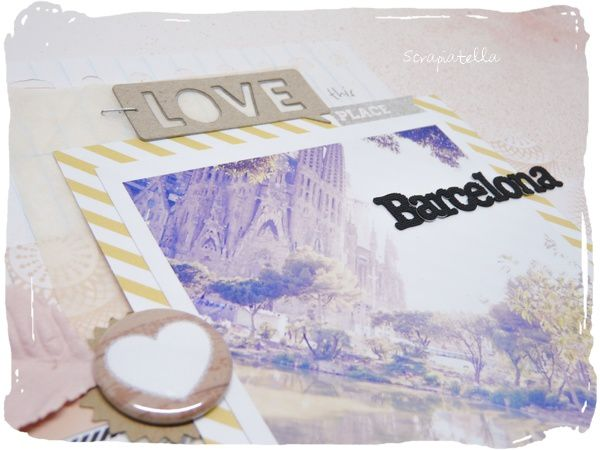 scrapbooking page Espagne