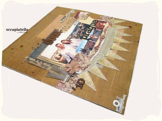 page scrapbooking shabby vintage