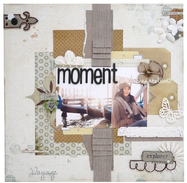 Page scrapbooking américain style shabby