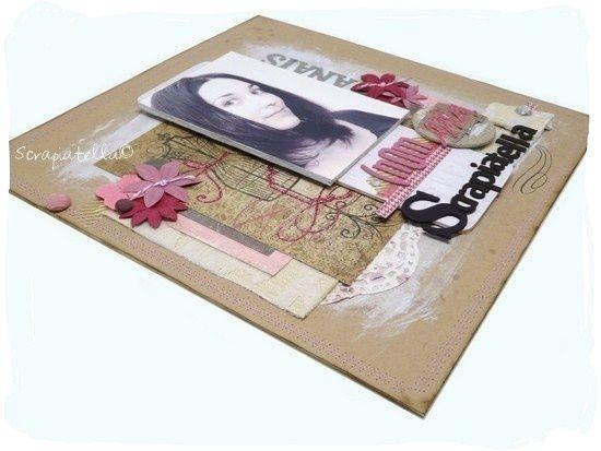 page 30x30 scrapbooking rose fushia
