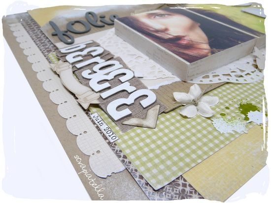 page scrapbooking shabby