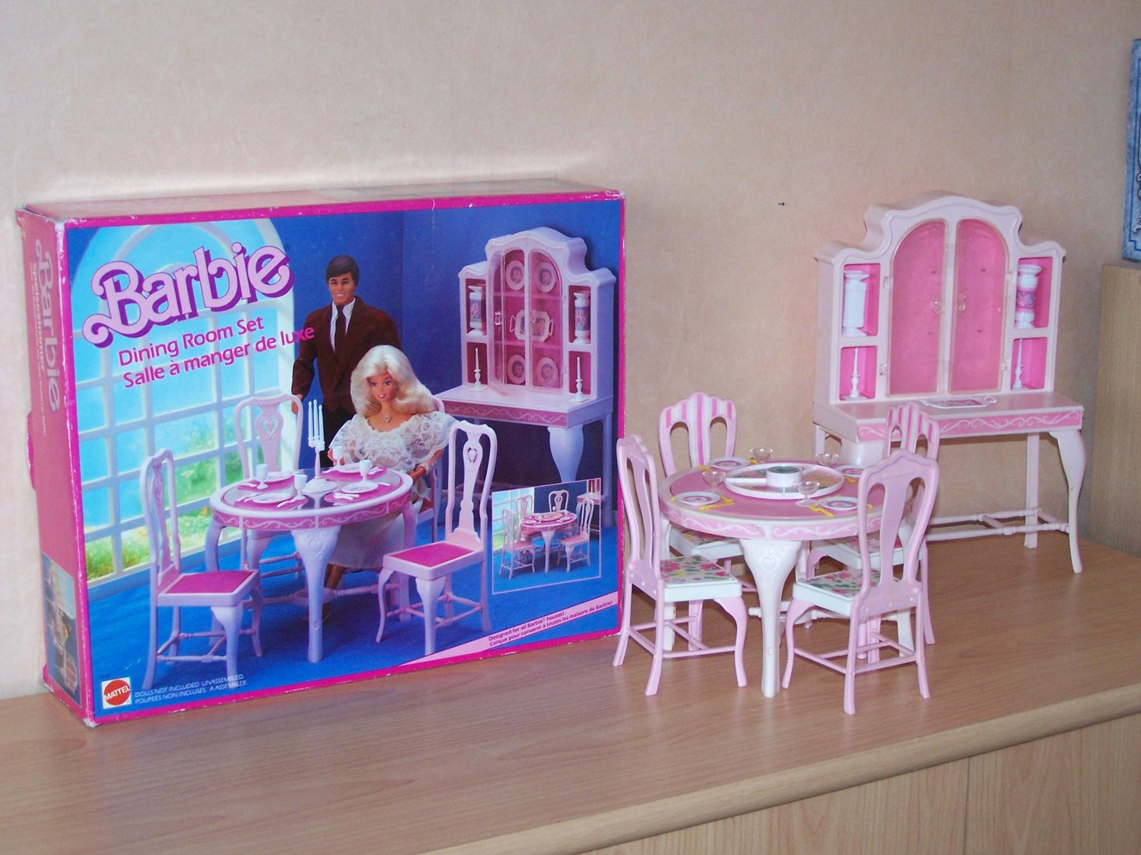 barbie mattel playsets et mobilier les p 39 tits. Black Bedroom Furniture Sets. Home Design Ideas