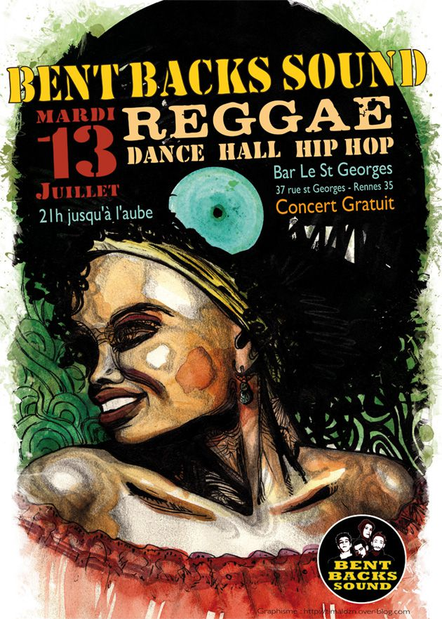 affiche illustration reggae