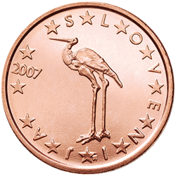 1 cent coin Si serie 1