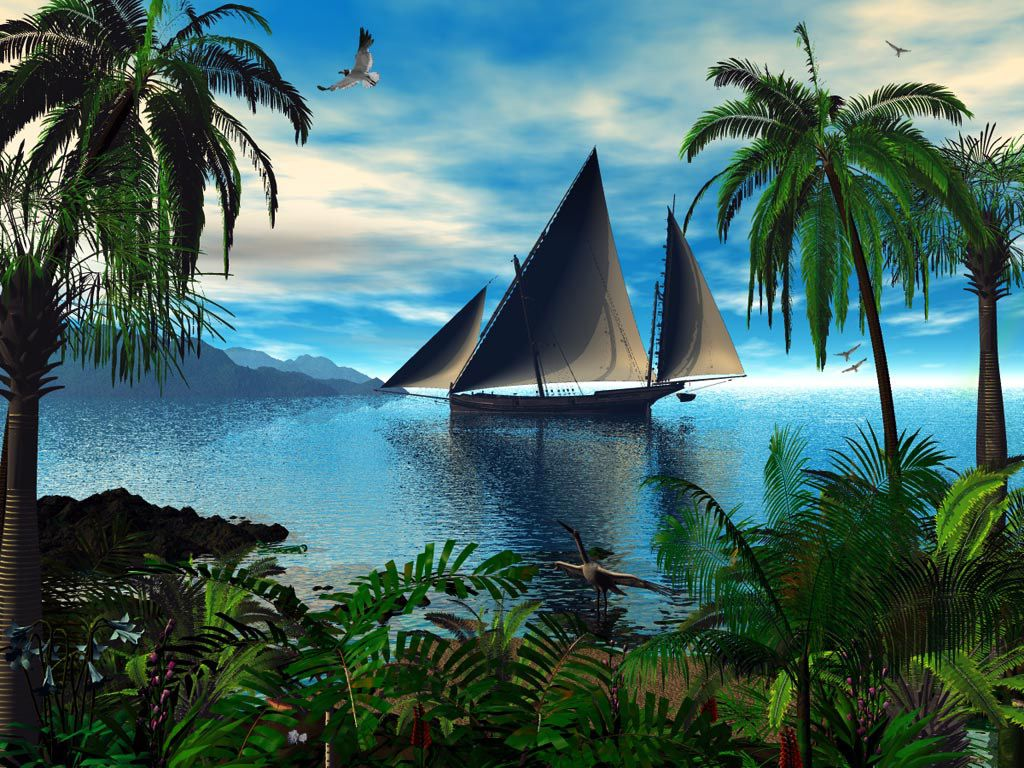 fond_d_ecran_paysage_bateau_flora