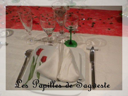 Ma premi re table d cor e les papilles de sagweste - Disposition des verres sur table ...