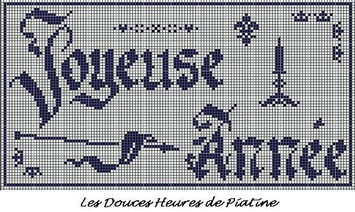 grille broderie JOYEUSE ANNEE