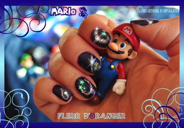 Nail-art-Mario-Galaxy 0557 copie