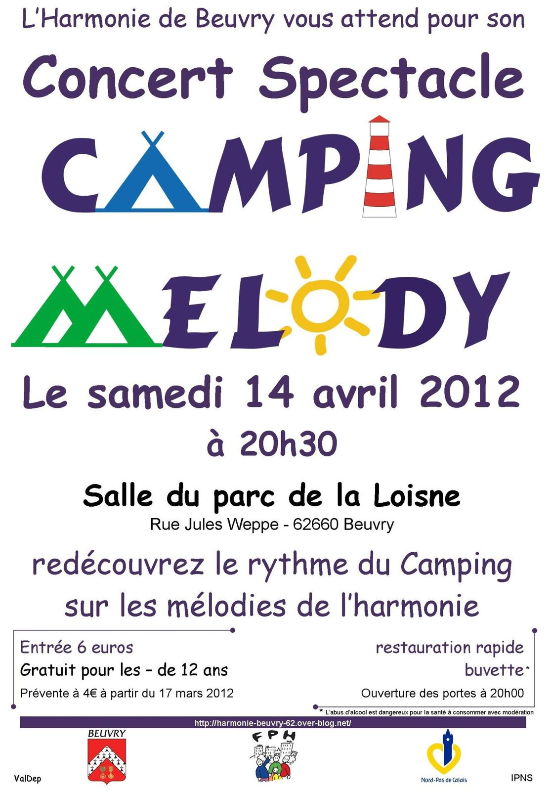 affiche concert spectacle 2012 Camping Mélody