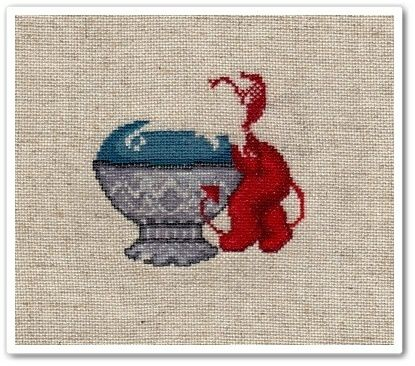 Little stitch devil with pincushion 1