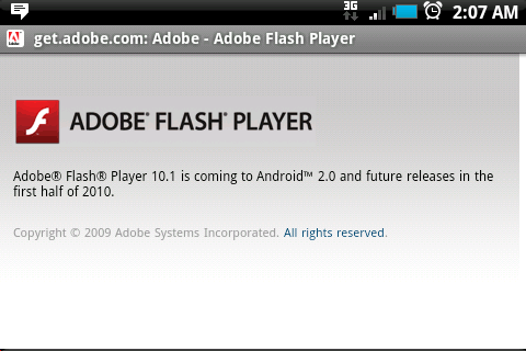 FlashPlayer sous Android
