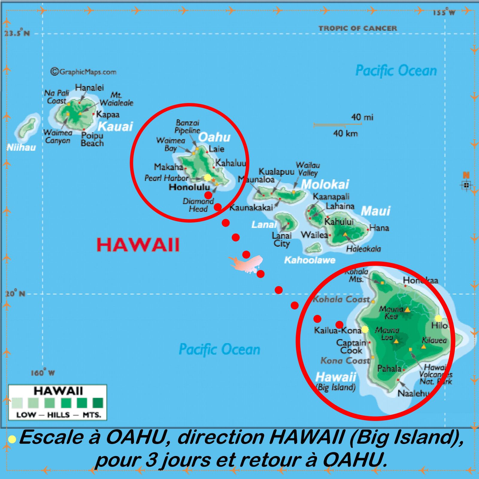 Hawaii Sur La Carte Du Monde.Archipel D Hawaii Les 4d De Paris A Tahiti
