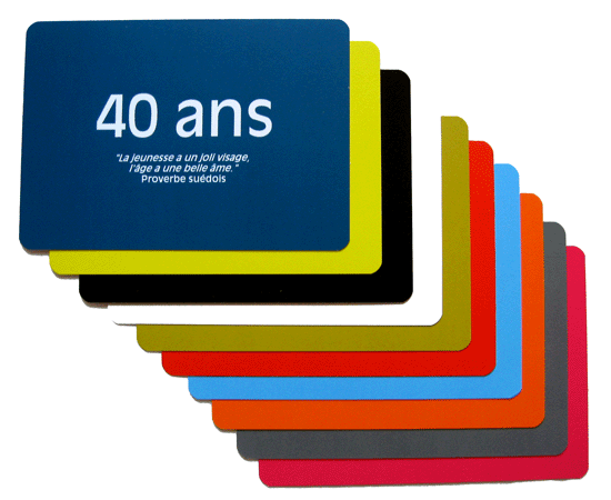 carte 40 ans originale