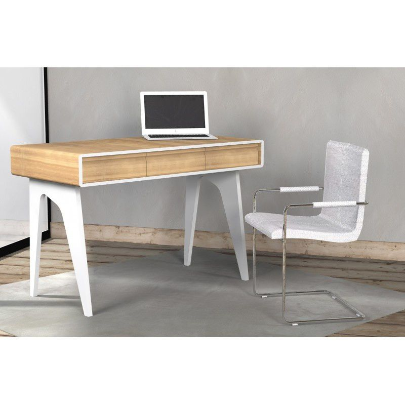 Innovation produit bureau design blanc westfield atylia for Meuble bureau qui se ferme