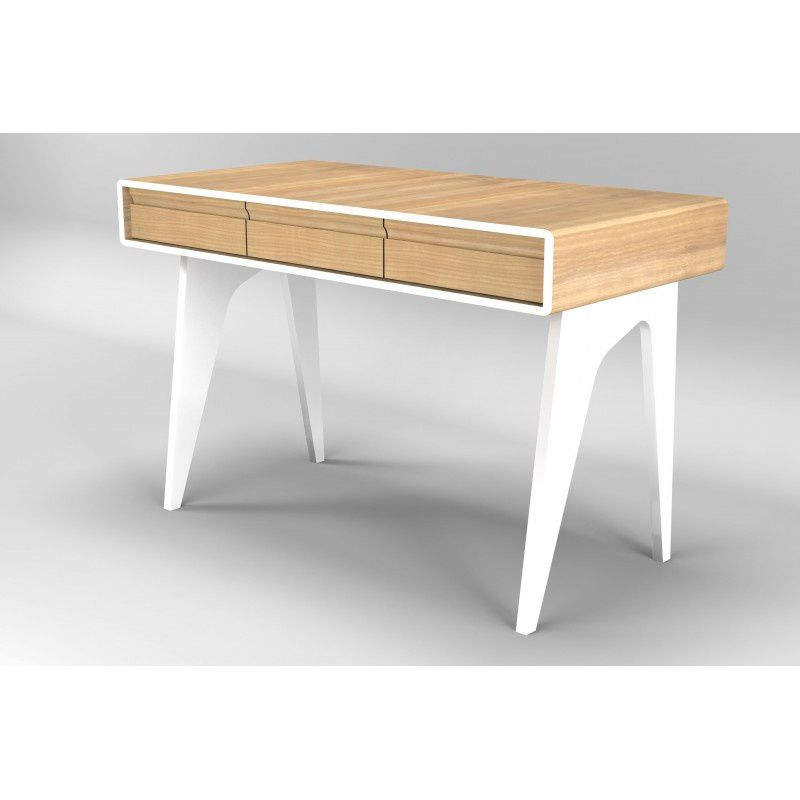 Innovation produit bureau design blanc westfield atylia for Bureau en bois design