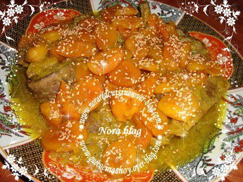 tajine de viande aux abricots