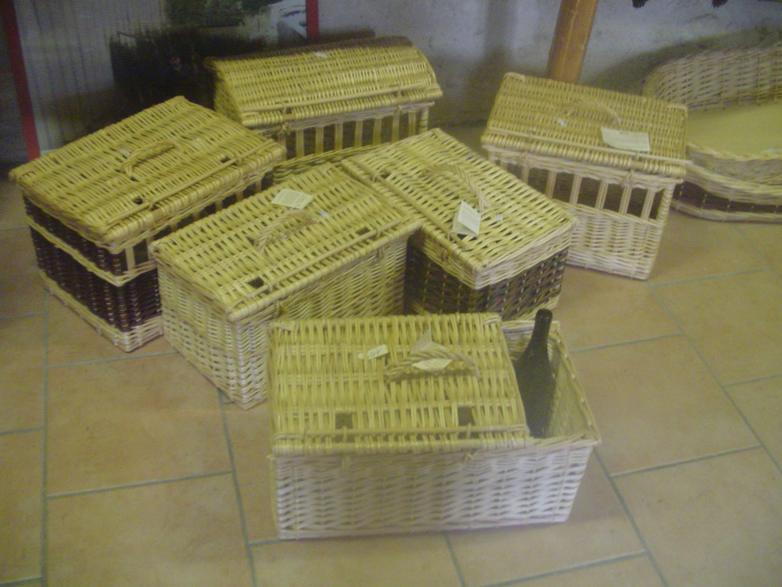 Panier Osier Chat Transport : Panier transport animaux chat chien niches pique
