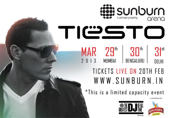 Tiësto Delhi India Sunburn Arena 31 march 2013