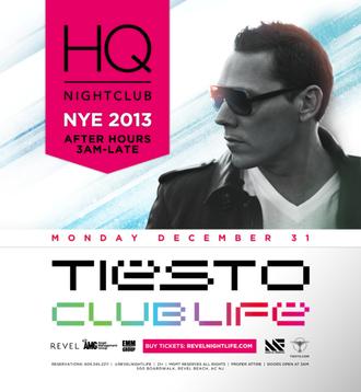 Tiësto HQ nightclub Atlantic City 01 jan 2013