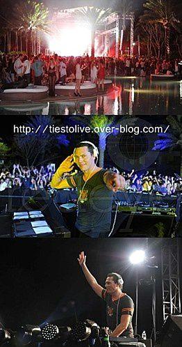 Tiësto 31 DECEMBRE 2010 Miami usa liv fontainbleau