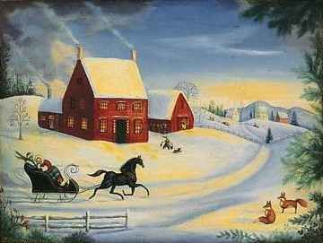 Jingle bell one horse open sleigh
