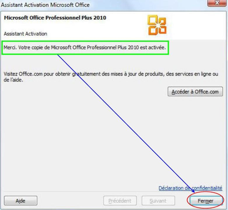 Comment savoir si ms office 2010 est active - Cle office professionnel plus 2010 ...
