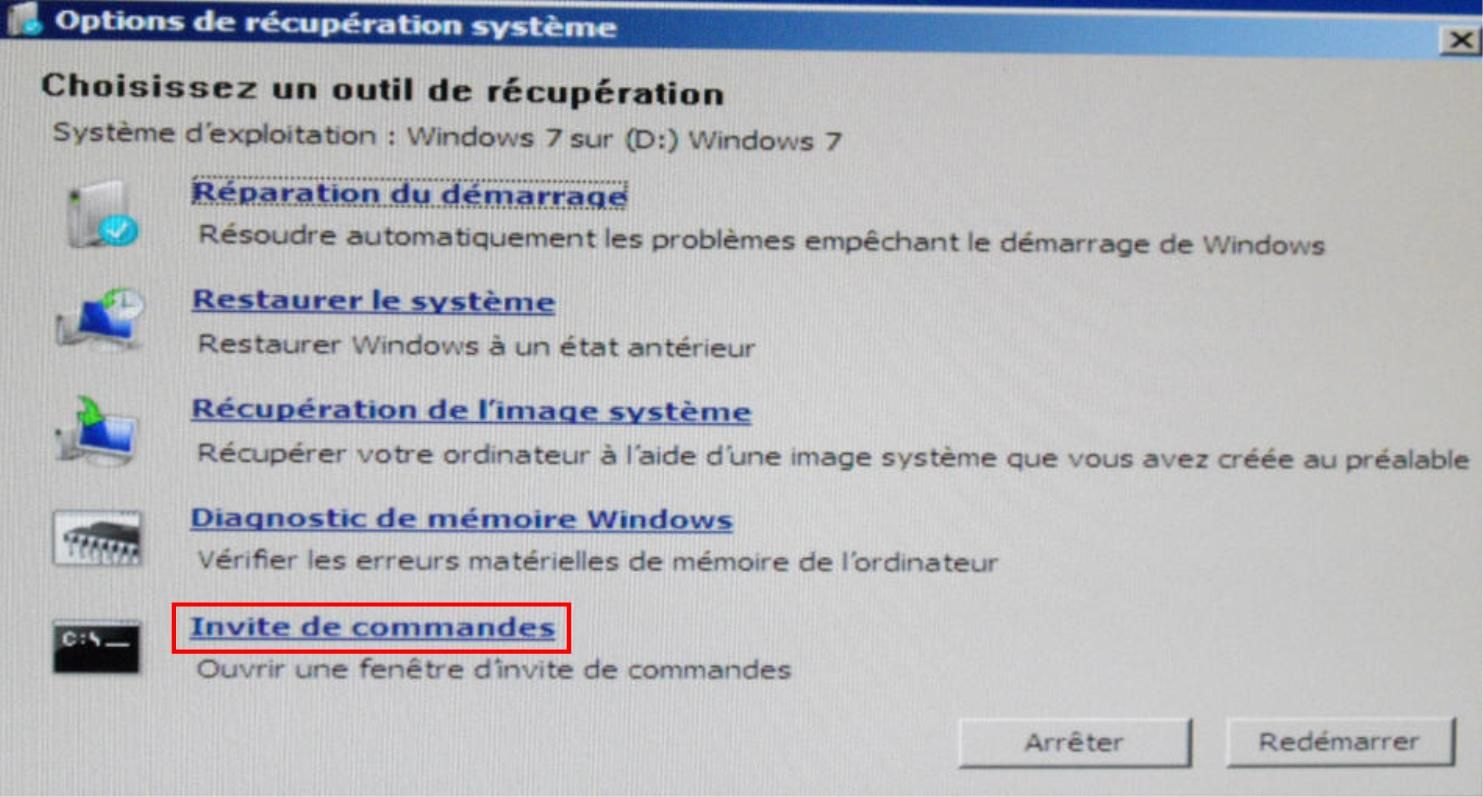 Les options des outils de r cup rations windows 7 le for Fenetre windows 7 outils