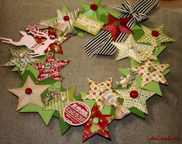 Challenge sp cial no l sur infinimentblog le blog de lolocreascrap - Creation couronne de noel ...