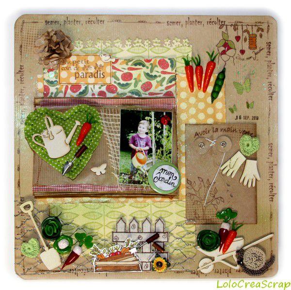 Canvas un petit coin de paradis en r ves de tampons le for Tout sur le jardinage