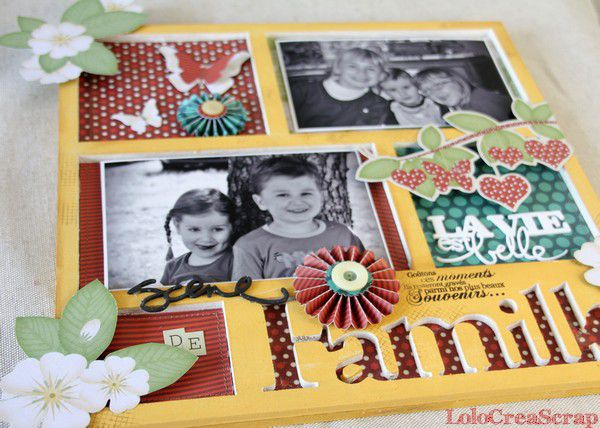 Cadre photos sc ne de famille le blog de lolocreascrap - Faire un album photo maison ...