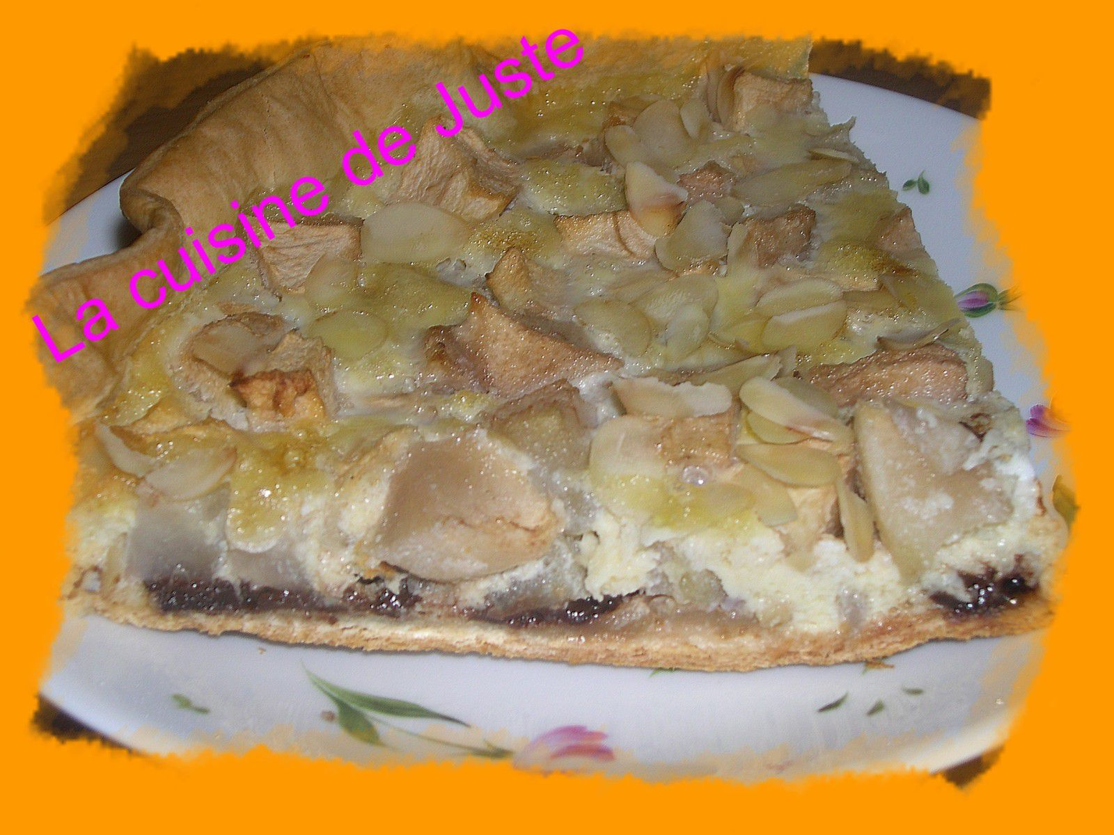 tarte chocolat pomme poire amande la cuisine de juste