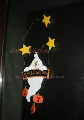 Une d coration halloween un fant me tout faire son enfant - Fabriquer un fantome halloween ...
