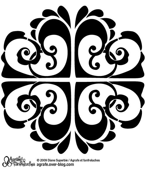 pochoirs baroques et g om triques agrafe et fanfreluches. Black Bedroom Furniture Sets. Home Design Ideas