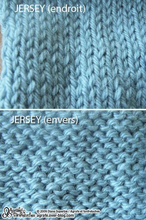 tuto tricot jersey envers
