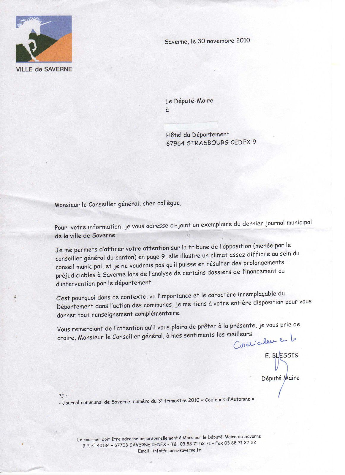lettre blessig