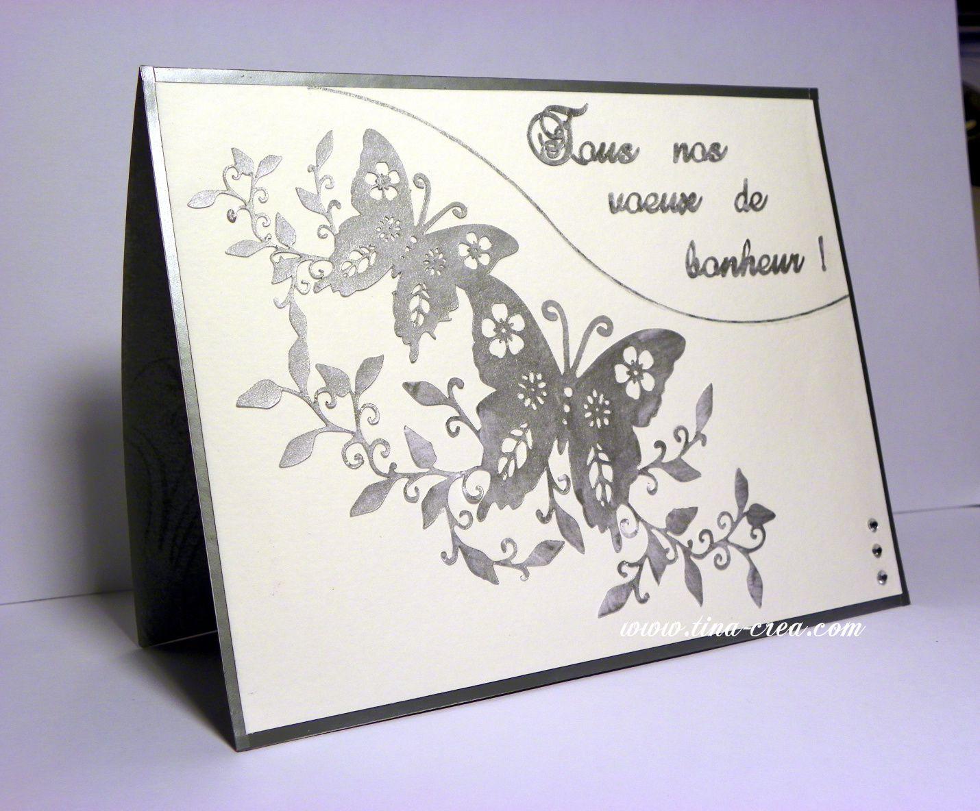 faire part de mariage en diorama ai donc choisi dutiliser des papillons la couleur gris satin et - Faire Part Mariage Kirigami