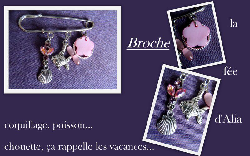 broche coquillage poisson