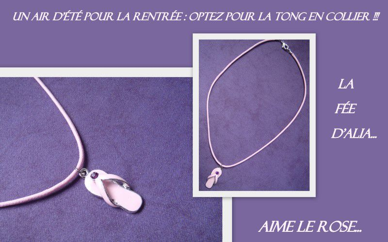 collier tong rose
