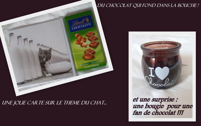 swap carte chat bougie choc