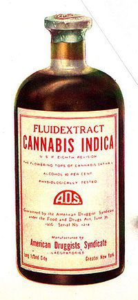 200px-Drug bottle containing cannbis